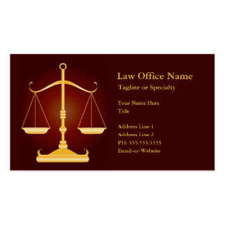 escritório de advogados cartão de visita