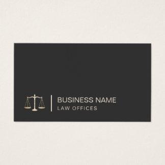 Escritório de advogados do logotipo da escala do cartão de visitas
