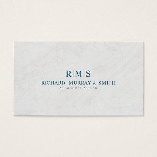 Escritório de advogados simples do profissional cartão de visitas
