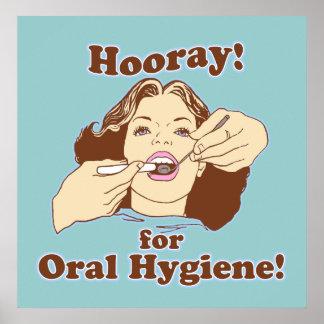 Escritório dental do dentista engraçado poster