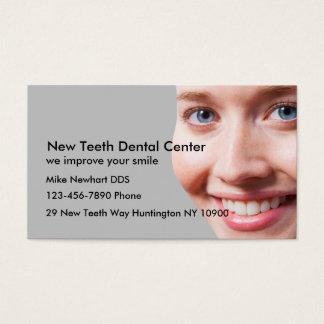 Escritório do dentista cartão de visita