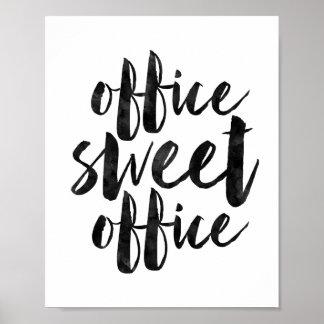 Escritório do doce do escritório poster