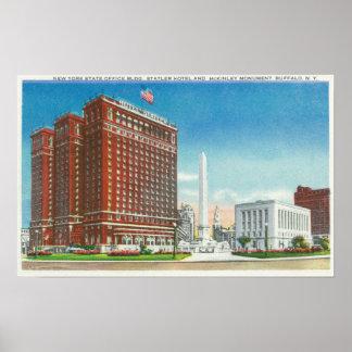 Escritório do estado de NY, hotel de Statler Impressão