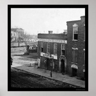 Escritório do Intelligencer em Atlanta, GA 1864 Posters