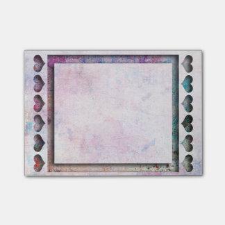 Escritório - quadro do coração da arte sticky notes