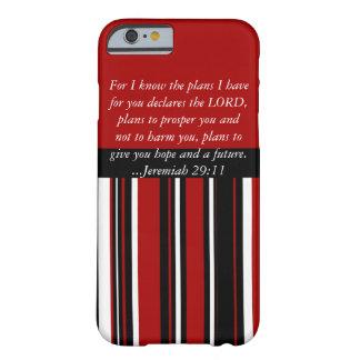 Escritura cristã do 29:11 de Jeremiah do verso da Capa Barely There Para iPhone 6