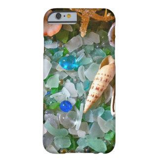 Escudos e vidro da praia capa barely there para iPhone 6