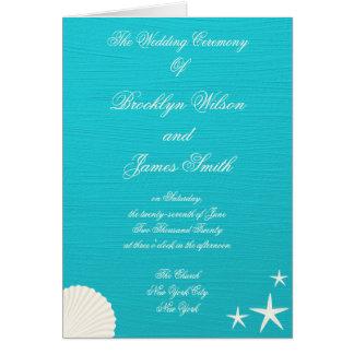 Escudos em programas da cerimónia de casamento da cartões
