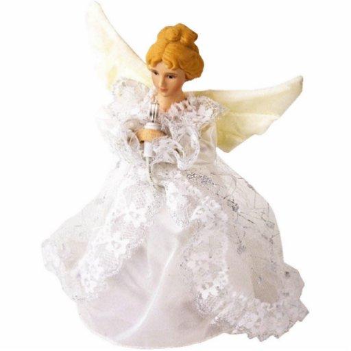 Escultura bonita do anjo, no vestido do laço esculturafotos