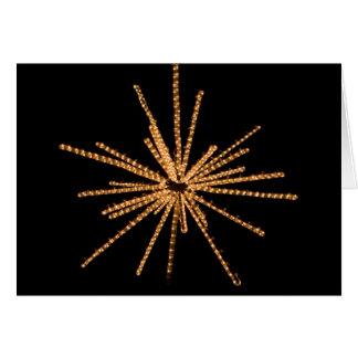 Escultura clara brilhante da estrela amarela - 5x7 cartão comemorativo
