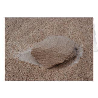 Escultura da areia da natureza cartão comemorativo