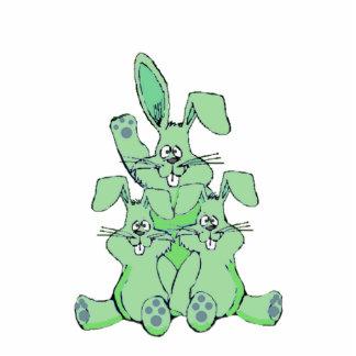 Escultura da foto de três coelhos esculturafotos