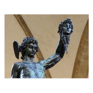 escultura de Florença, Italia Cartão Postal