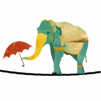 Escultura graciosa do elefante fotoescultura