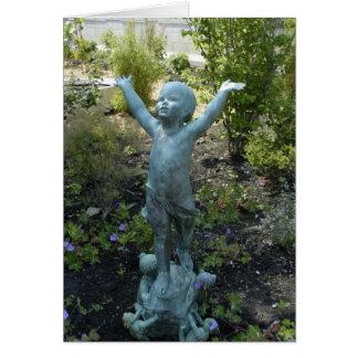Escultura no conservatório de Phipps, Pittsburgh Cartão De Nota