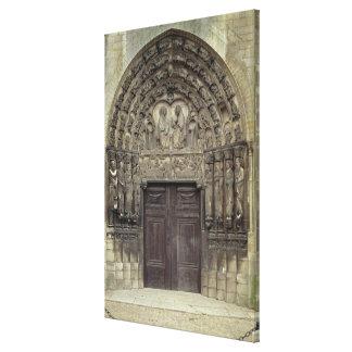 Esculturas portais e circunvizinhas com fi bíblico impressão de canvas esticada