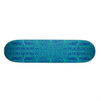Escuro e claro - o teste padrão geométrico azul dá skate
