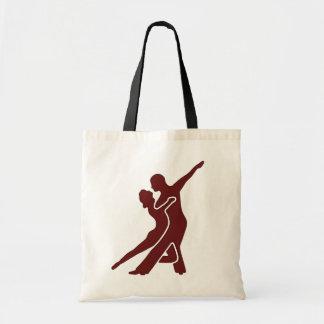 Escuro - saco vermelho do logotipo sacola tote budget