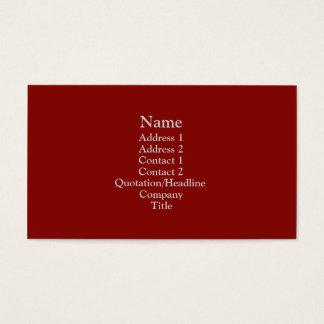 Escuro - vermelho cartão de visitas