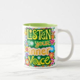 Escute sua caneca interna da voz - caneca