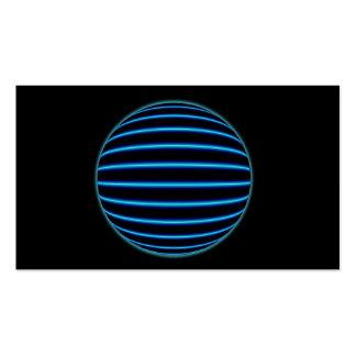Esfera azul cartão de visita