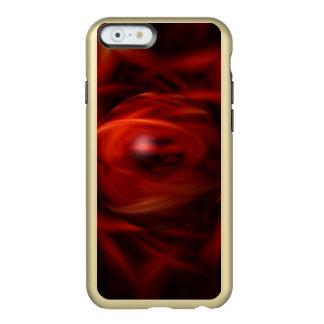 Esfera do fogo vermelho capa incipio feather® shine para iPhone 6
