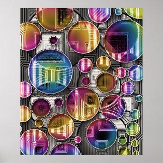 Esferas coloridas - arte abstracta poster