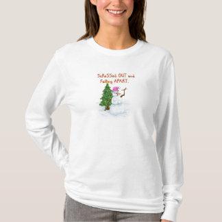 Esforço snowlady com o tshirt engraçado dos