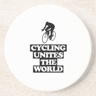 esfrie e tendendo o DESIGN do ciclismo Porta-copos De Arenito