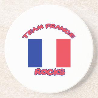esfrie e tendendo o design francês da bandeira porta-copos de arenito
