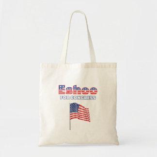 Eshoo para o design patriótico da bandeira america bolsa para compras