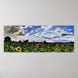 Esmalte da paisagem 19 impressão
