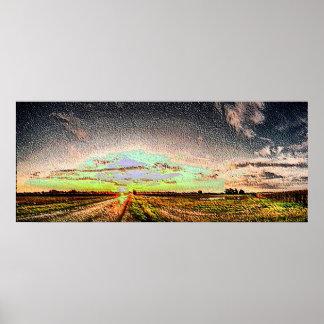 Esmalte da paisagem 2 pôsteres