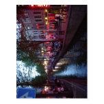 Espa sumário? ol: Calle del bairro Rojo de Amsterd Cartoes Postais