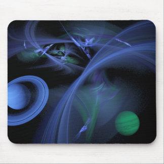 Espaço azul mouse pad