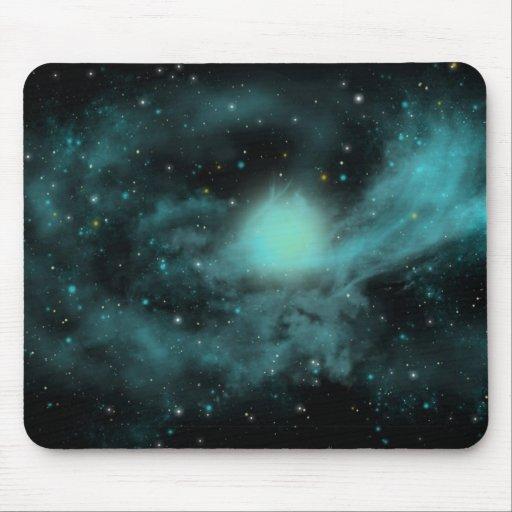 Espaço azul mousepads