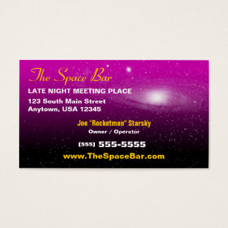 Espaço/cartão de visita imagem da galáxia cartão de visitas