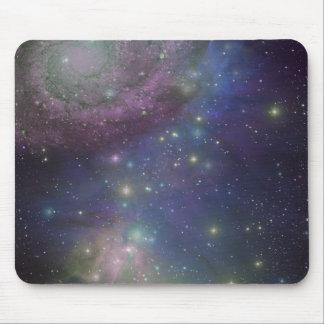 Espaço, estrelas, galáxias e nebulosa mouse pad