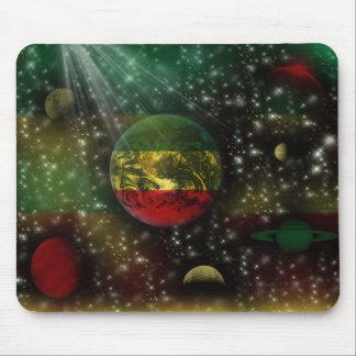 Espaço Mousepad do mundo dos planetas de Rastafari