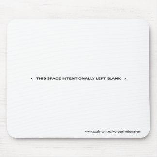 Espaço vazio mouse pad