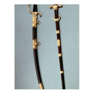 Espada comemorativa dada por Napoleon Bonaparte Cartão Postal