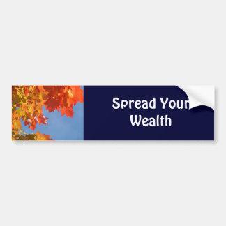Espalhe seu outono dos autocolantes no vidro trase adesivo para carro