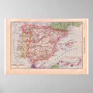 Espanha 1920 histórica do vintage posteres