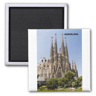 Espanha de Sagrada Familia Barcelona Ímã Quadrado