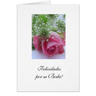Espanhol: Casamento da SU Boda/do por de Cartão Comemorativo