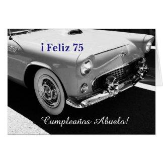 Espanhol: O aniversário do vovô de Cumpleanos Cartão Comemorativo