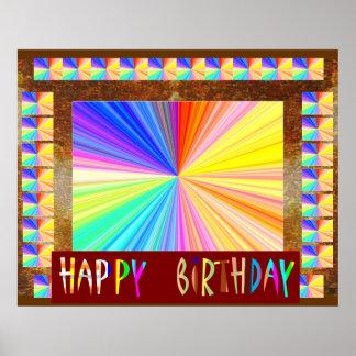 Espectro claro da faísca: Aniversário de Pôster