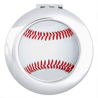Espelho do estojo compacto da foto do basebol espelhos de maquiagem