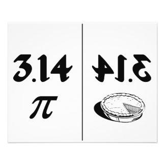 Espelho invertido Pi da torta Flyer 11.43 X 14.22cm