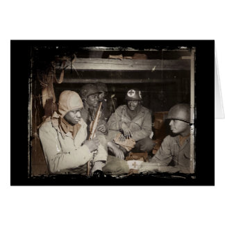 Espera dos médicos de WWII Cartão